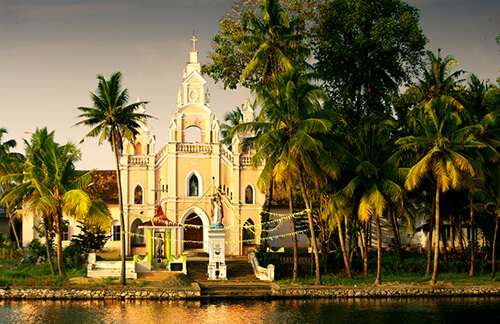 church in the backwaters of kerala shutterstock_149366606